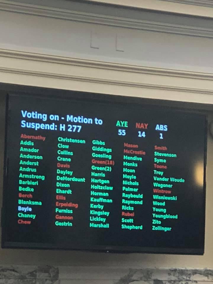 REP. GREEN: HB 277, Medicaid Sideboard Bill